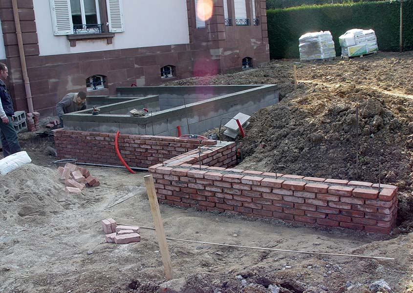 Cr er un bassin olgreen paysagiste mulhouse 68 l - Profondeur d un bassin de jardin ...