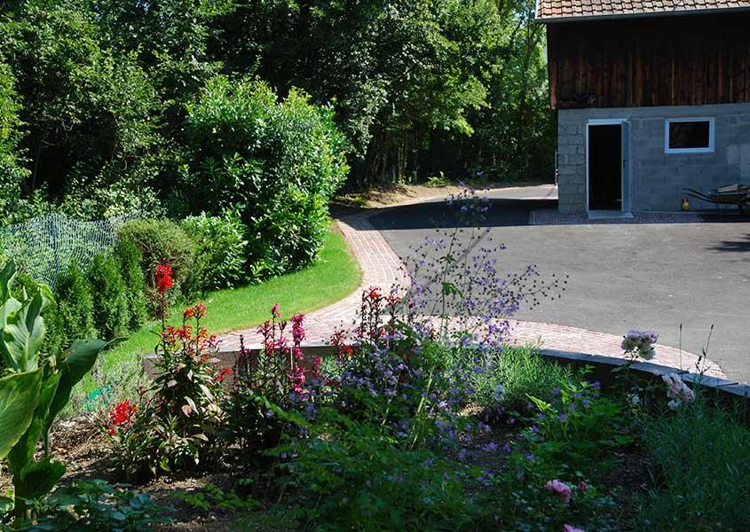 Cour int rieure olgreen paysagiste mulhouse 68 l for Espace vert mulhouse