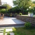 Accès terrasse vue piscine - Après