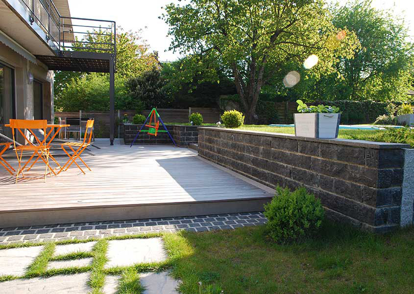 Terrasse jardin olgreen paysagiste mulhouse 68 l for Photos terrasses et jardins
